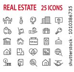 real estate icons set   Shutterstock .eps vector #1010386735