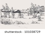 Vector Winter Landscape. A Col...