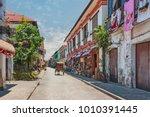 city center street scene in... | Shutterstock . vector #1010391445