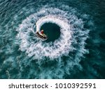 people are playing a jet ski in ... | Shutterstock . vector #1010392591