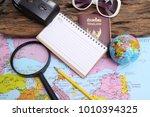 travel plan  trip vacation  ... | Shutterstock . vector #1010394325