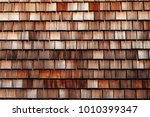 texture of wooden tile roof in... | Shutterstock . vector #1010399347