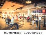 blur modern hipster open coffee ...   Shutterstock . vector #1010404114