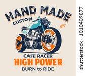vector motorcycle illustration...   Shutterstock .eps vector #1010409877