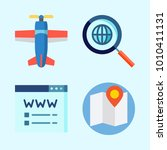 icons set about seo with search ... | Shutterstock .eps vector #1010411131