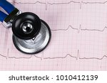 stethoscope on the...   Shutterstock . vector #1010412139