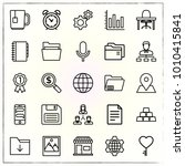 business line icons set desk... | Shutterstock .eps vector #1010415841