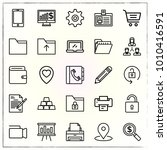 business line icons set gold... | Shutterstock .eps vector #1010416591