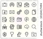 business line icons set... | Shutterstock .eps vector #1010417494