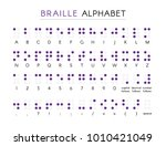 braille alphabet with numbers... | Shutterstock .eps vector #1010421049