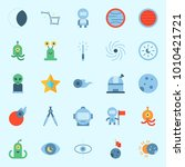 icons set about universe with... | Shutterstock .eps vector #1010421721