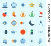 icons set about universe with... | Shutterstock .eps vector #1010422045