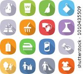 flat vector icon set   cleanser ... | Shutterstock .eps vector #1010435509