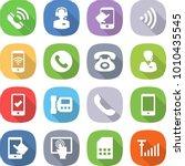 flat vector icon set   call... | Shutterstock .eps vector #1010435545