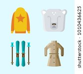 icons set about winter with...   Shutterstock .eps vector #1010436625