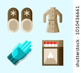icons set about winter with...   Shutterstock .eps vector #1010436661