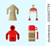 icons set about winter with...   Shutterstock .eps vector #1010437759