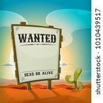 summer mexican desert with... | Shutterstock .eps vector #1010439517