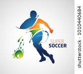 splash silhouette football... | Shutterstock .eps vector #1010440684