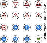 line vector icon set   sign... | Shutterstock .eps vector #1010444335