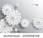 3d branches of greyscale... | Shutterstock .eps vector #1010446144