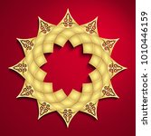 3d round geometric arabesque... | Shutterstock . vector #1010446159