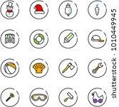 Line Vector Icon Set   Snowman...