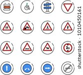 line vector icon set   sign... | Shutterstock .eps vector #1010450161