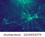 abstract blue geometrical... | Shutterstock . vector #1010453374