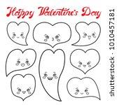 vector illustration  amusing... | Shutterstock .eps vector #1010457181