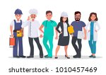 set of people of different... | Shutterstock .eps vector #1010457469