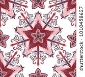 vector seamless pattern ethnic... | Shutterstock .eps vector #1010458627