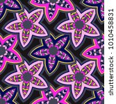 vector seamless pattern ethnic... | Shutterstock .eps vector #1010458831