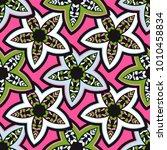 vector seamless pattern ethnic... | Shutterstock .eps vector #1010458834