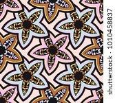 vector seamless pattern ethnic... | Shutterstock .eps vector #1010458837
