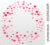 pink red hearts confetti... | Shutterstock .eps vector #1010461609