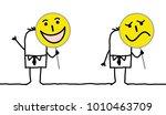 cartoon characters holding...   Shutterstock .eps vector #1010463709