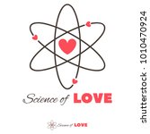 icon of atom and heart shape.... | Shutterstock .eps vector #1010470924