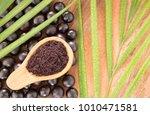 acai powder and fruits  ... | Shutterstock . vector #1010471581