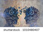 business partnership... | Shutterstock . vector #1010480407