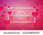 happy valentines day... | Shutterstock . vector #1010485045