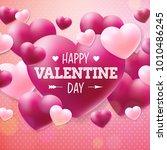 happy valentines day design... | Shutterstock . vector #1010486245