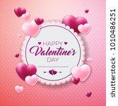 happy valentines day design... | Shutterstock . vector #1010486251