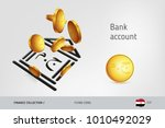 bank icon with flying egyptian... | Shutterstock .eps vector #1010492029