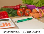 concept diet and weight loss on ... | Shutterstock . vector #1010500345