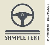 steering wheel icon or sign ... | Shutterstock .eps vector #1010502337