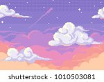 vector pixel background with... | Shutterstock .eps vector #1010503081