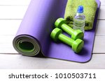 shaping and fitness equipment.... | Shutterstock . vector #1010503711