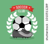 soccer club ball sneaker laurel ... | Shutterstock .eps vector #1010511289
