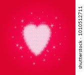 valentine's love heart of small ... | Shutterstock .eps vector #1010512711